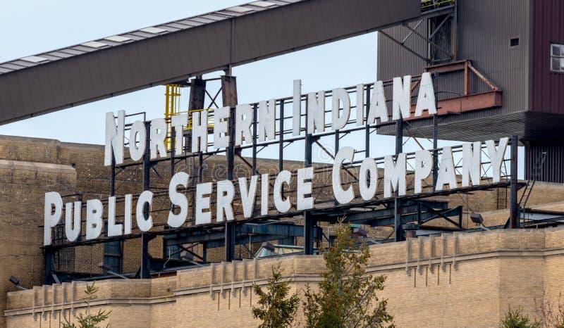 Północny Indiana władzy firmy usługowa znak obraz stock