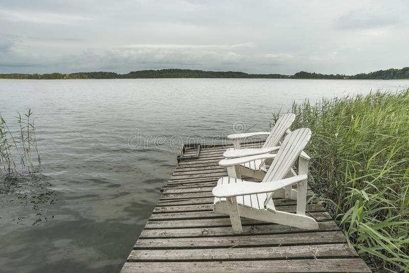 Północny jeziorny kurort obraz stock