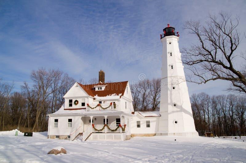 północny latarnia morska punkt zdjęcia stock