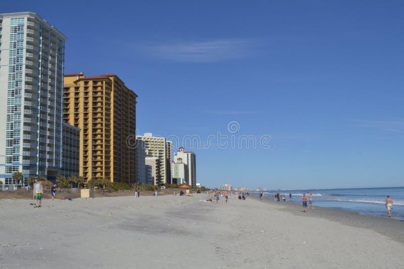 Północny mirt plaży hotelu widok zdjęcia stock