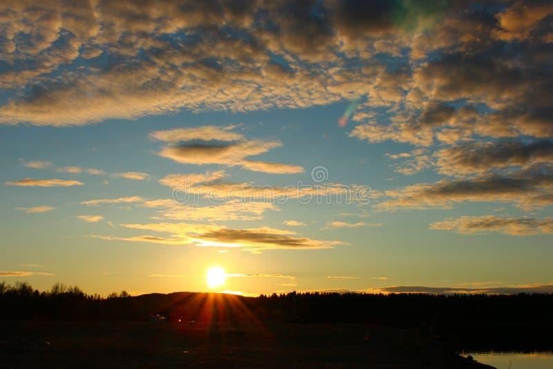 Północny niebo fotografia stock