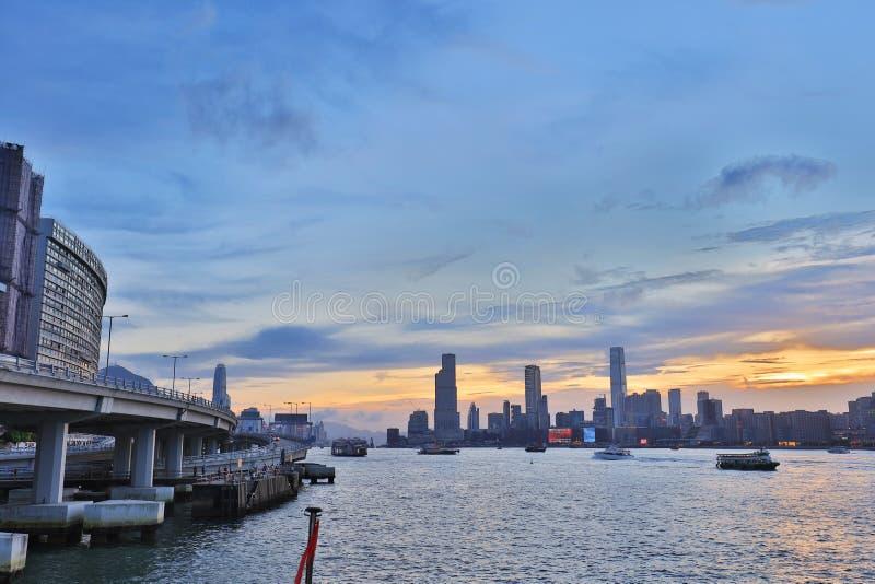 Północny punktu mola widok Kowloon strona fotografia royalty free