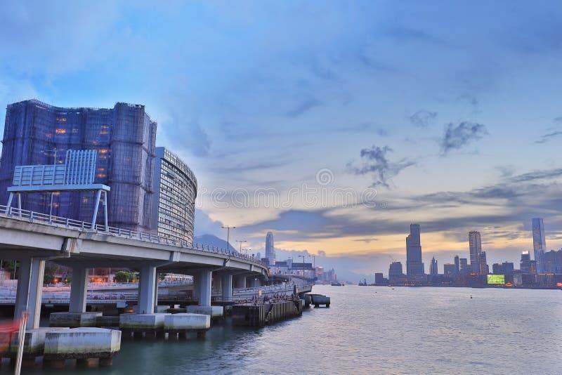 Północny punktu mola widok Kowloon strona fotografia stock