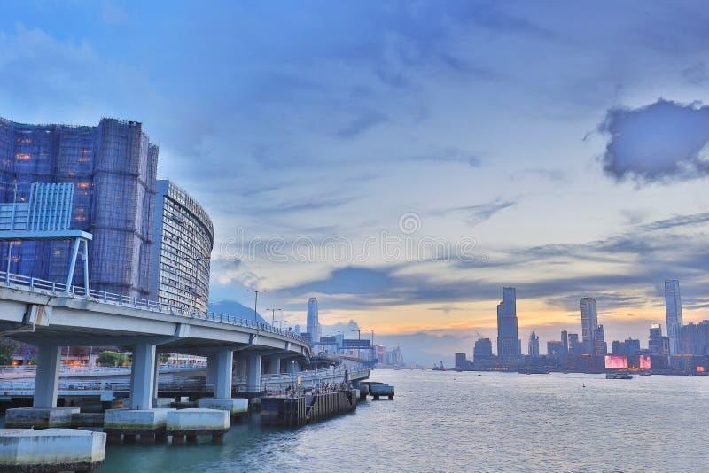Północny punktu mola widok Kowloon strona zdjęcia stock