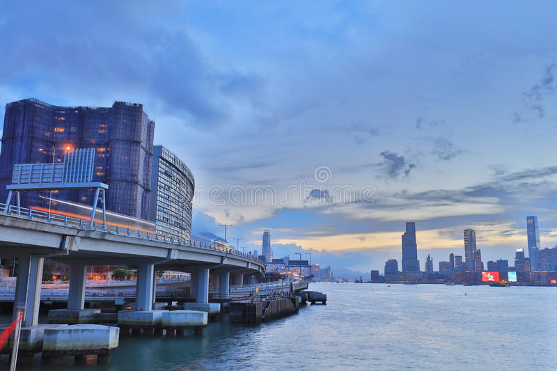 Północny punktu mola widok Kowloon strona obrazy stock