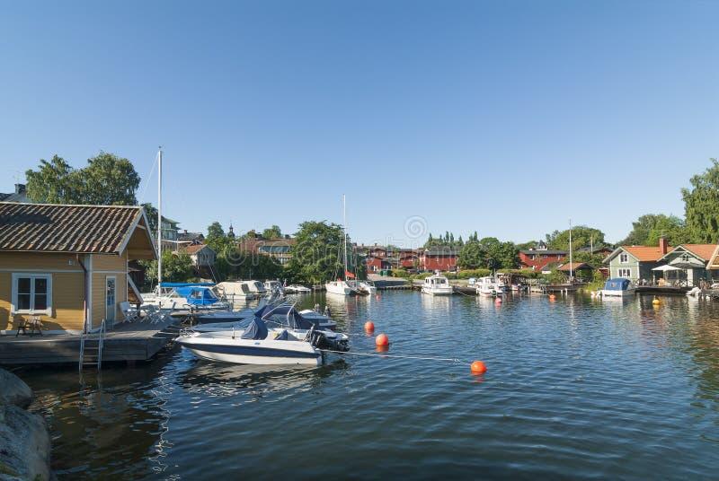 Północny schronienia Vaxholm Sztokholm archipelag obrazy stock