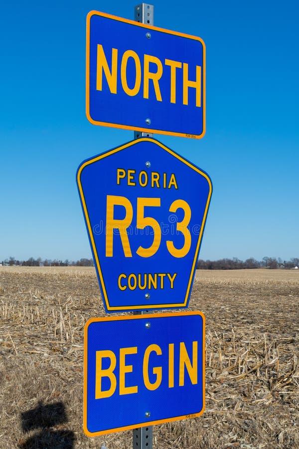 Północny trasy 53 znak obrazy stock