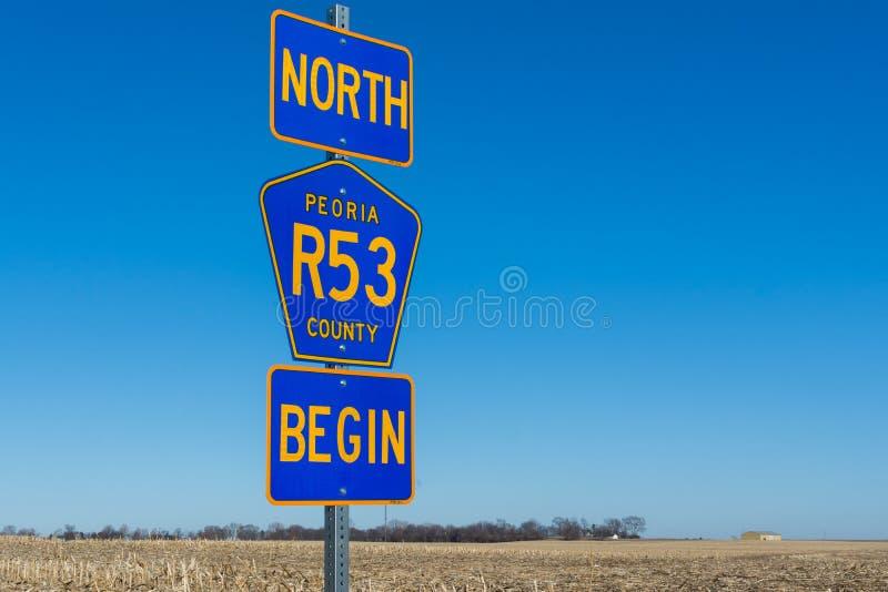 Północny trasy 53 znak zdjęcie royalty free