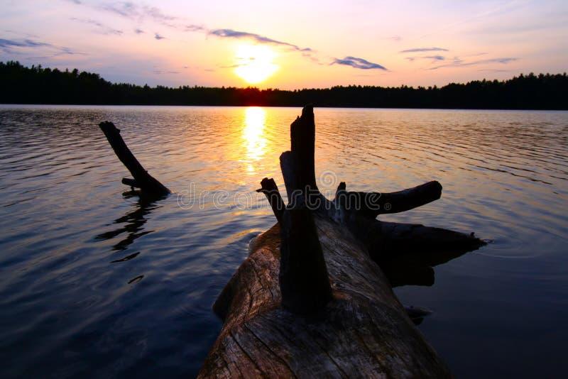 Północny Wisconsin zmierzch fotografia royalty free