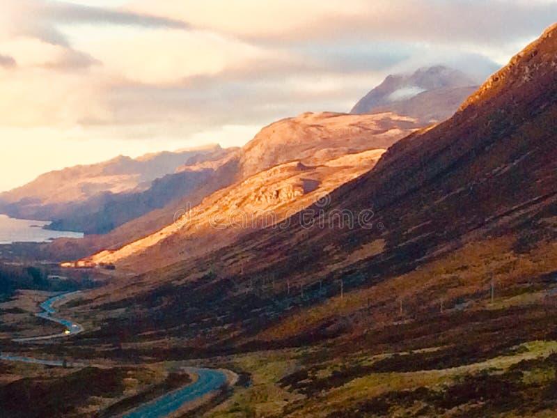 Północny wybrzeże 500 sceniczny prowadnikowy Szkocja obrazy royalty free