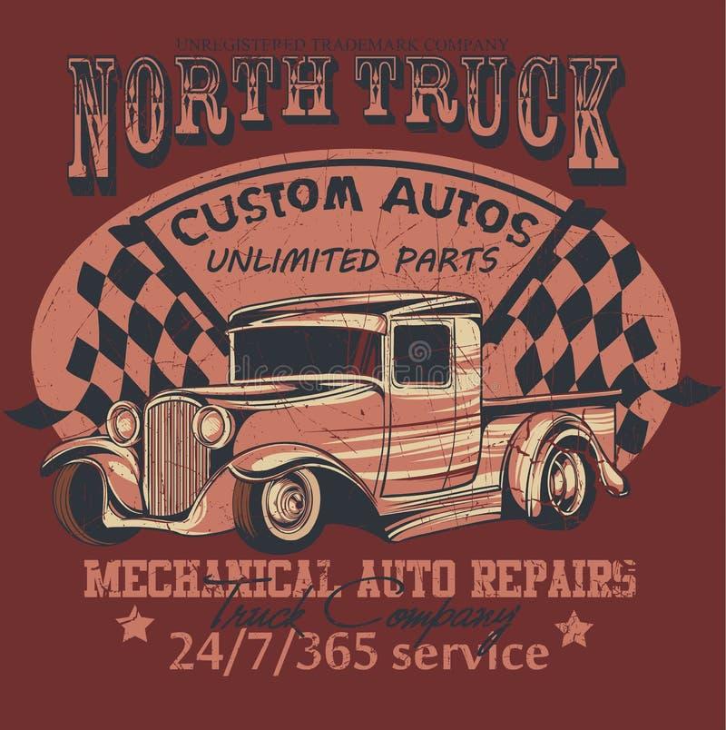 Północy ciężarówka ilustracja wektor