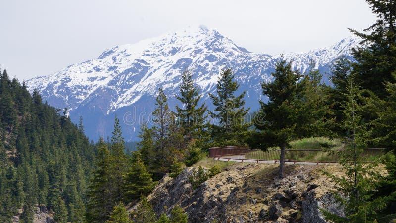 Północy Kaskadowy pasmo górskie, stan washington, usa zdjęcia stock