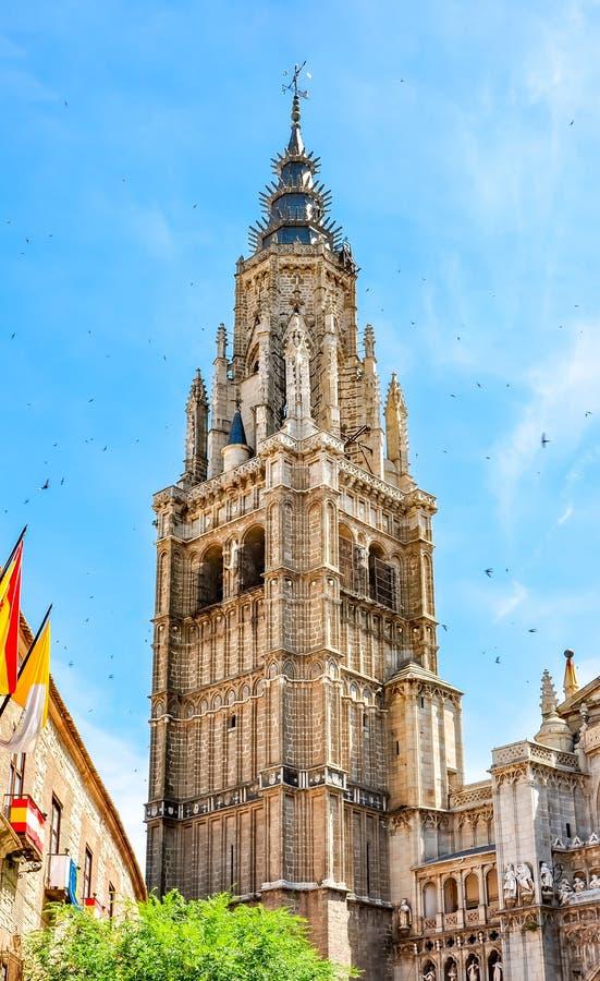 Północy wierza Toledo katedra, Hiszpania obrazy royalty free