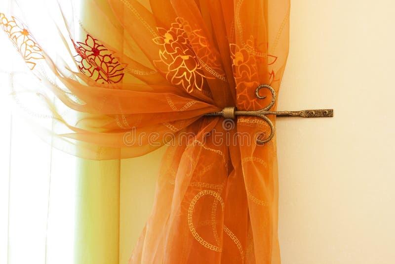 półprzezroczysta zasłony pomarańcze zdjęcia stock