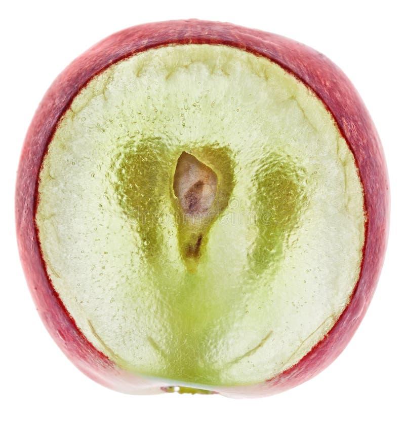 półprzezroczysty owocowy gronowy czerwony plasterek zdjęcia stock