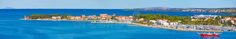Półwysep Puntamika w Zadar panoramicznym widoku obrazy royalty free
