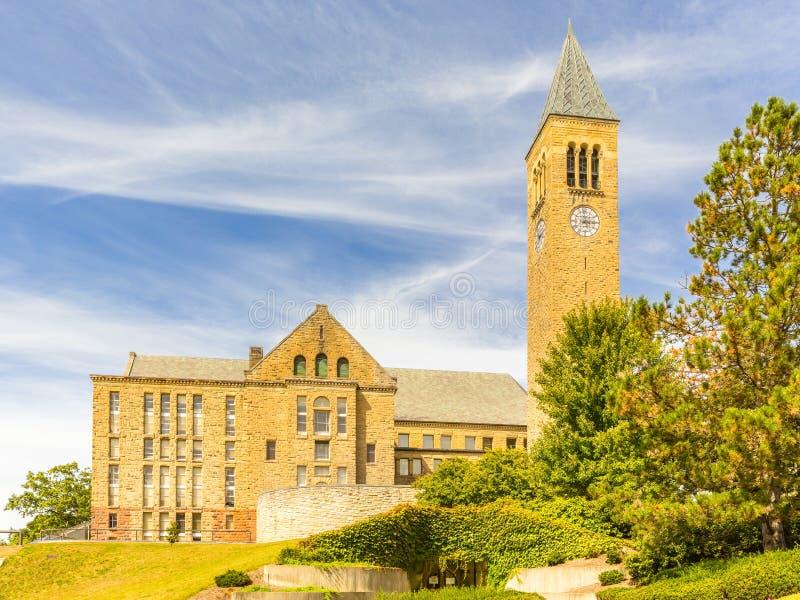 Późne lato krajobraz uniwersytet cornell zdjęcie stock