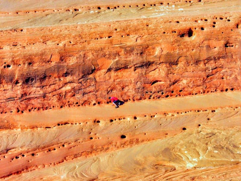 Późnego Popołudnia światło słoneczne na piaskowa i chłopiec pięciu, łuki parki narodowi, Utah Delikatnym łukiem fotografia stock