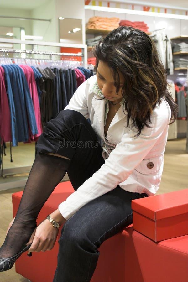 później się butów. zdjęcia stock