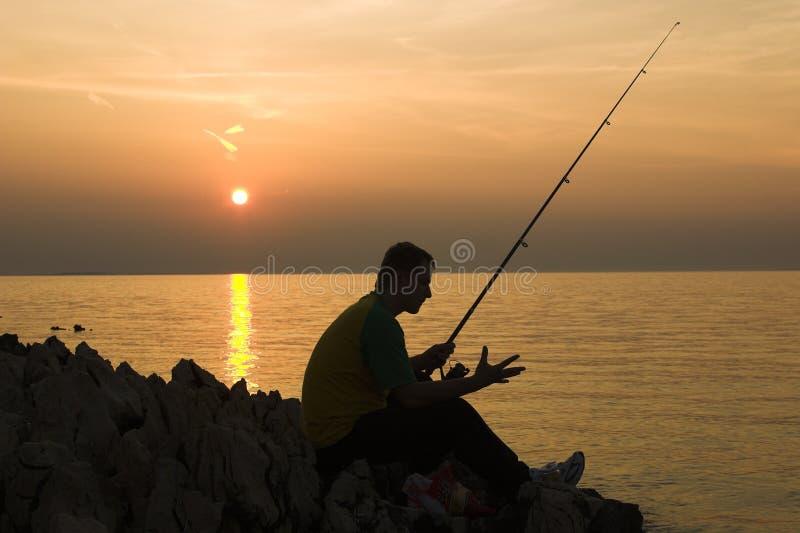 późno połowów zdjęcie stock