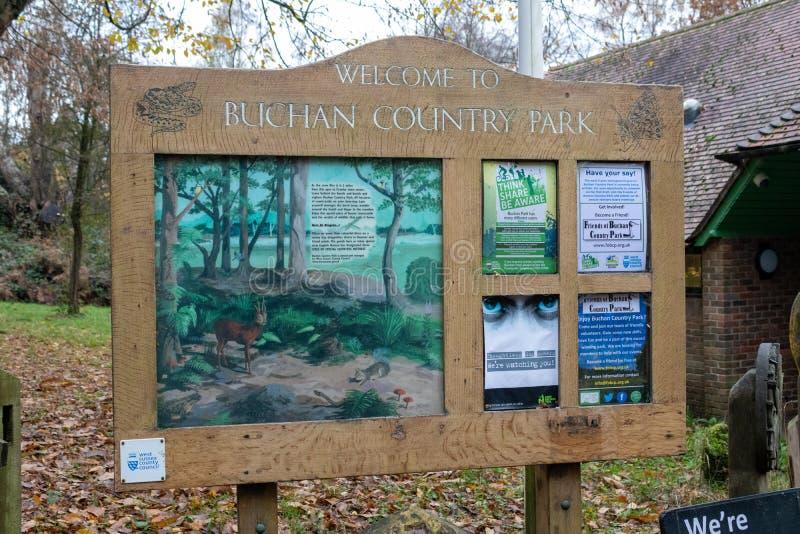 Późny jesienny dzień w Buchan Park Crawley Wielka Brytania zdjęcie royalty free