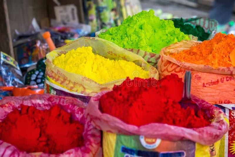 Pó colorido Holi imagem de stock royalty free