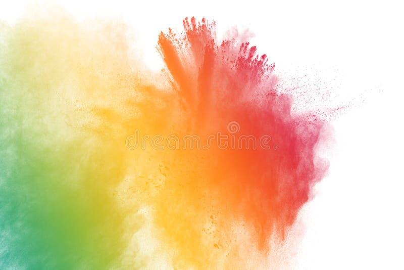 Pó colorido splatted imagens de stock