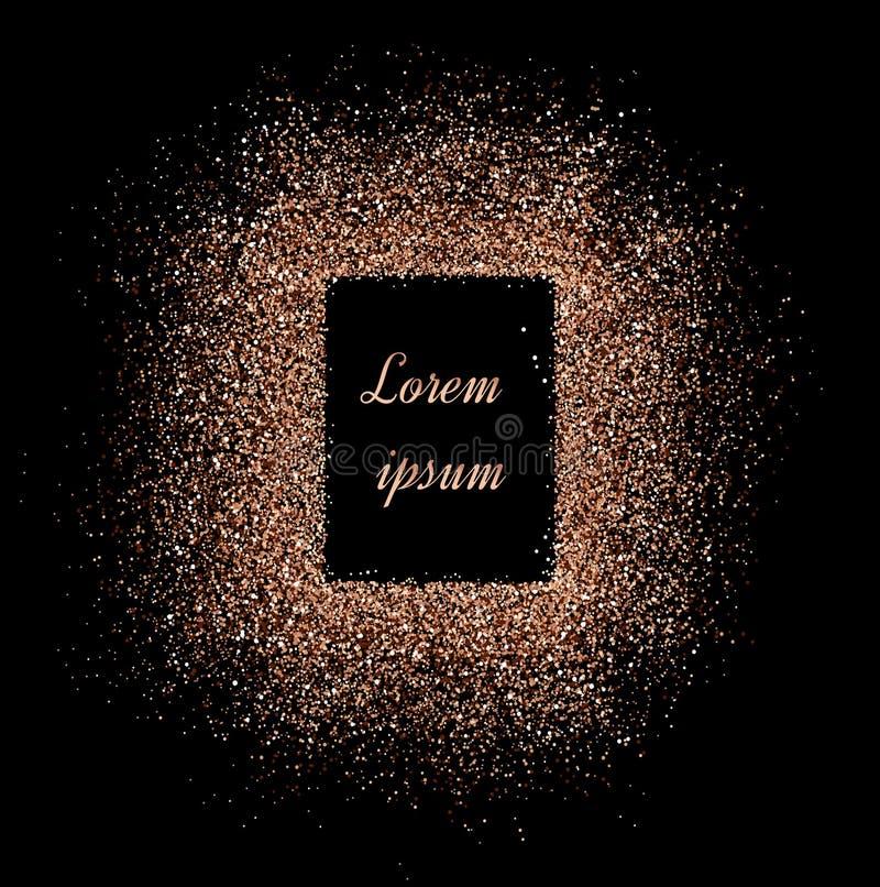 Pó com sparkles em um contexto preto Backgro brilhante abstrato ilustração royalty free