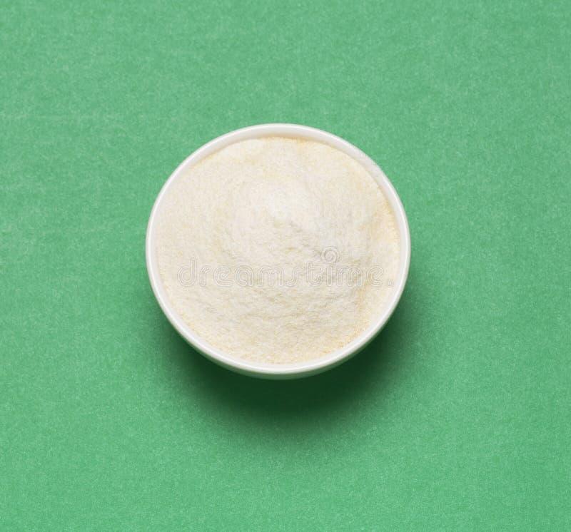 Pó da proteína do colagênio - Hydrolyzed Vista superior foto de stock royalty free