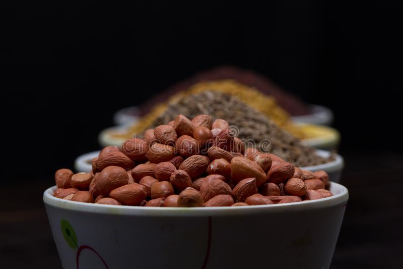 Pó indiano do alimento imagens de stock royalty free