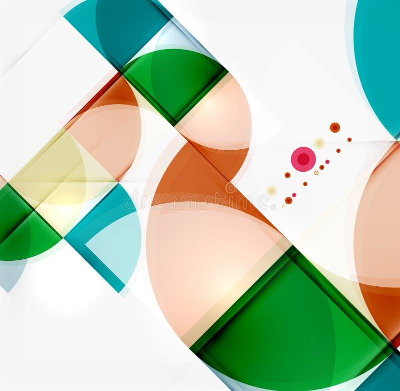Download Półkole trójboka wzór ilustracja wektor. Ilustracja złożonej z dekoracje - 57672404