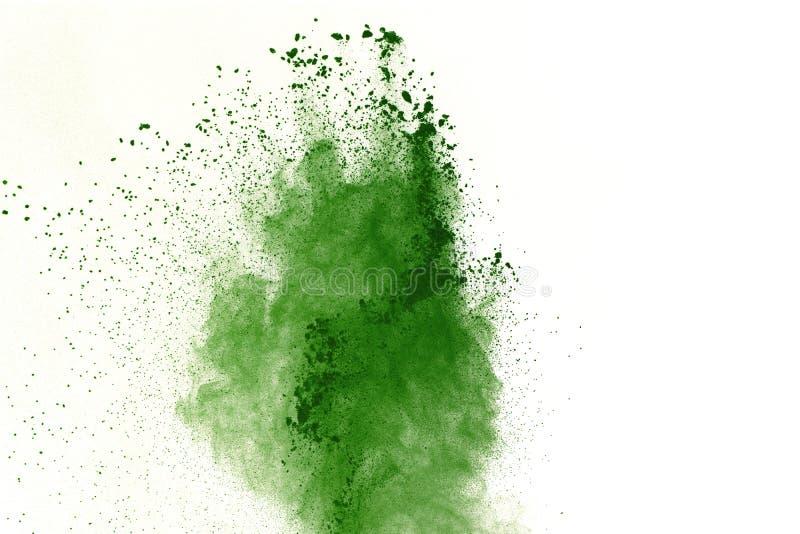 Pó vermelho abstrato fundo splatted, movimento do gelo poeira verde de explosão/de jogo vermelha do pó foto de stock royalty free