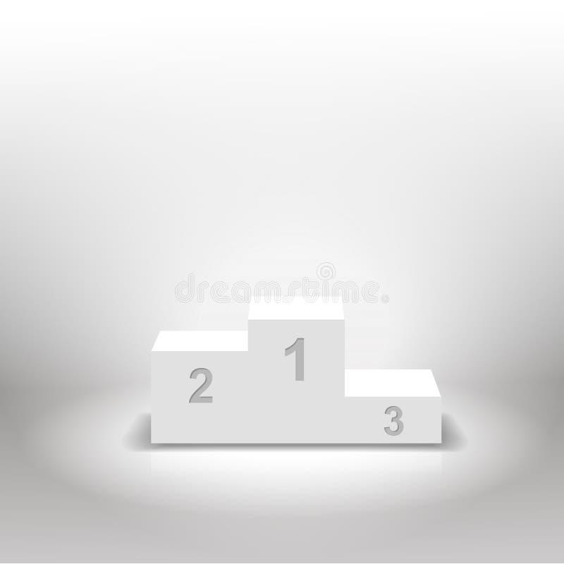 Pódio branco dos vencedores para conceitos do negócio ilustração stock