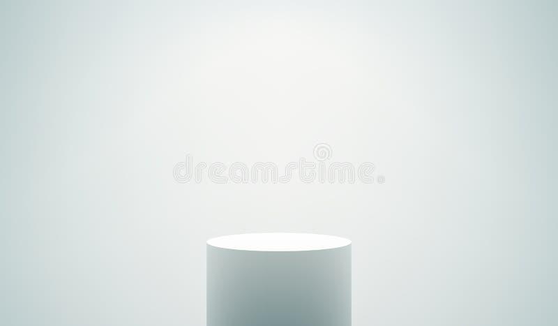 Pódio branco vazio ilustração stock