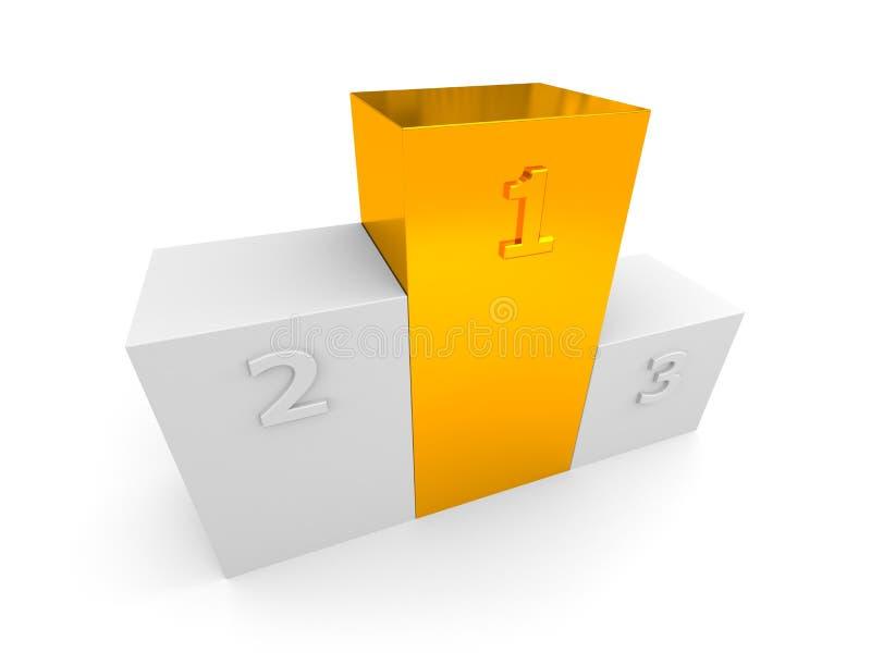 Pódio com primeiramente, segundos e terceiros lugares ilustração do vetor