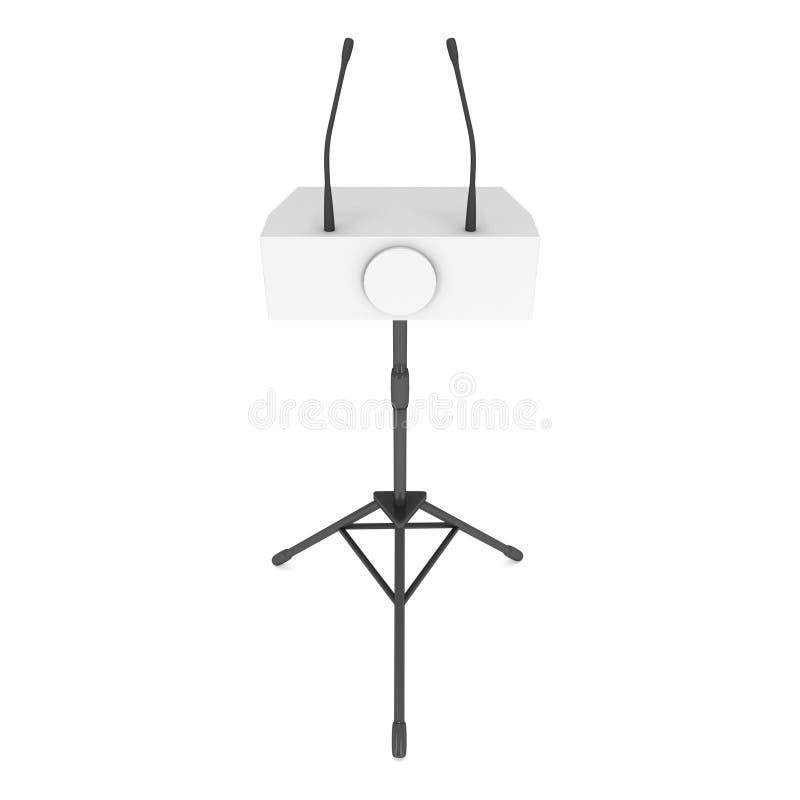 pódio do orador 3d no tripé ilustração royalty free
