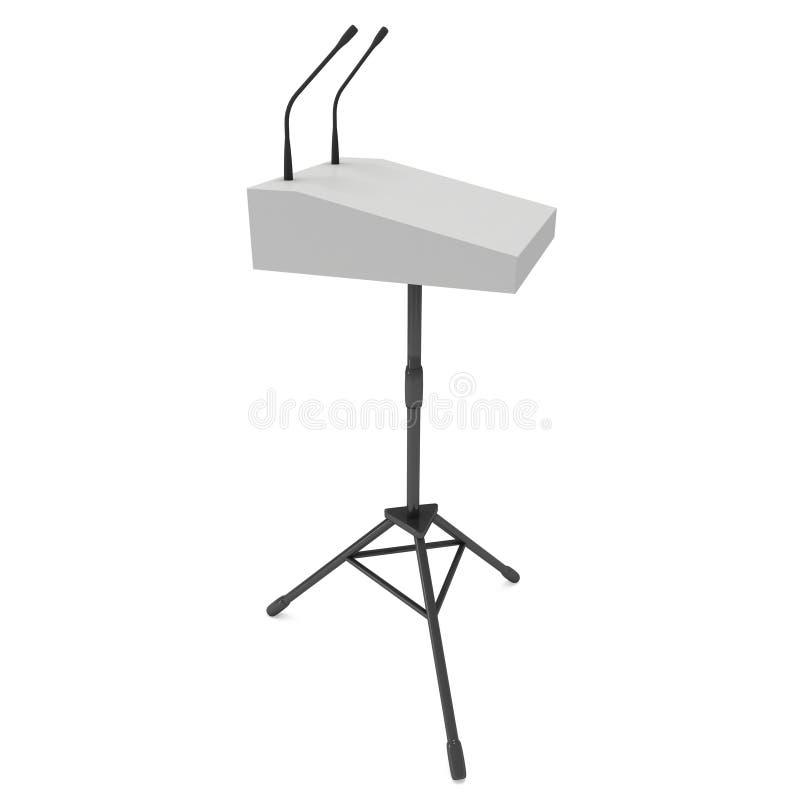 pódio do orador 3d no tripé ilustração stock