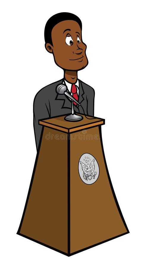Pódio do presidente ilustração do vetor
