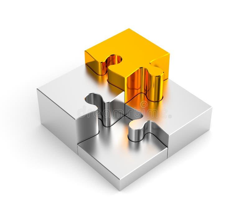 Pódio dos enigmas do cromo, com um ouro ilustração royalty free