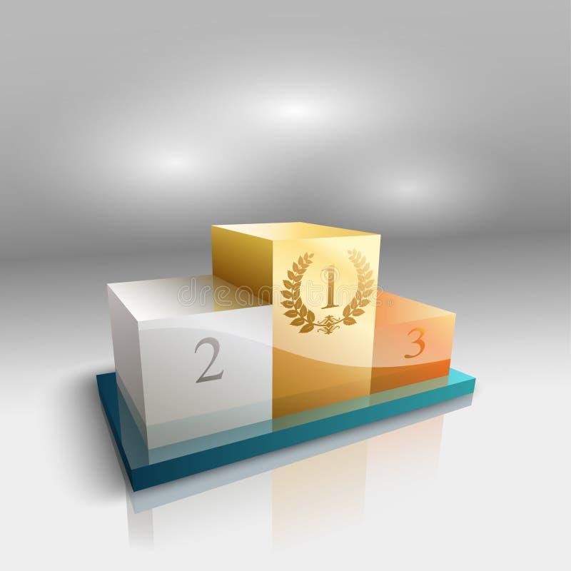 Pódio dos vencedores ilustração do vetor