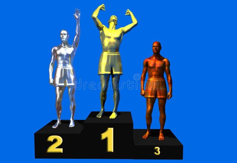 Pódio dos vencedores ilustração royalty free