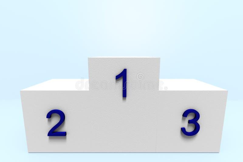 Pódio dos vencedores ilustração stock