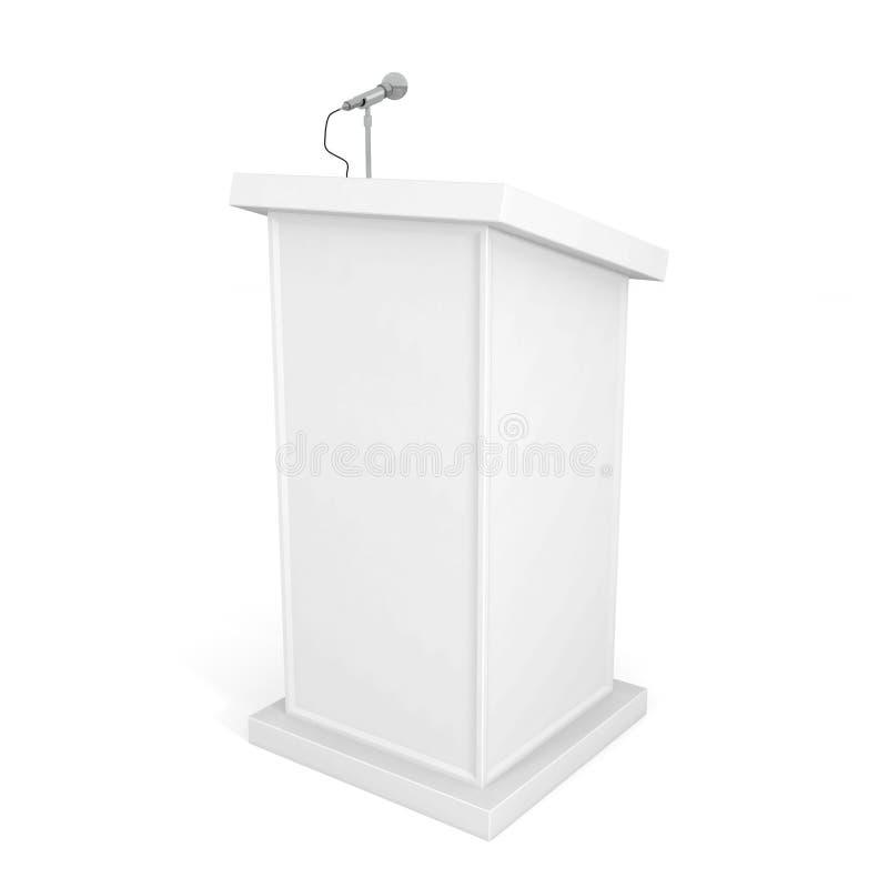 Pódio e microfone ilustração stock