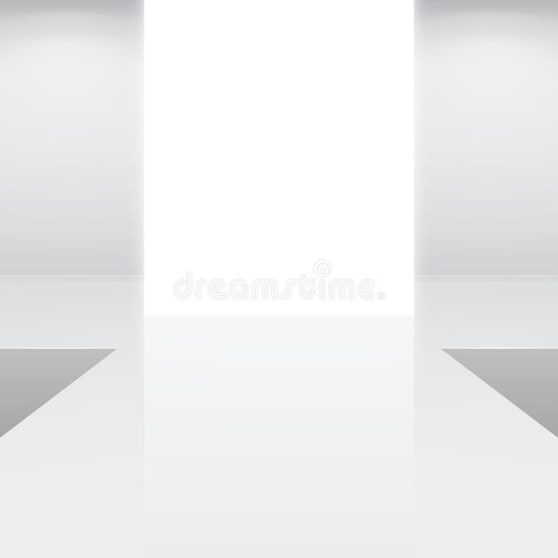 Pódio interior branco da forma ilustração royalty free