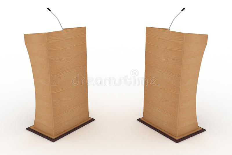 Pódio para debates ilustração royalty free
