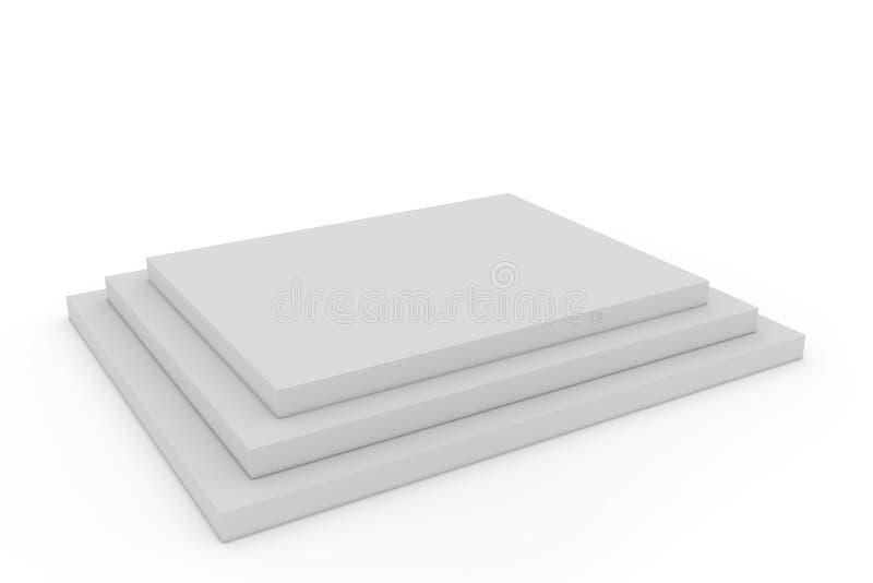 Pódio quadrado vazio ilustração stock