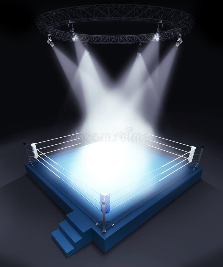 Pódio vazio iluminado da fase fotografia de stock