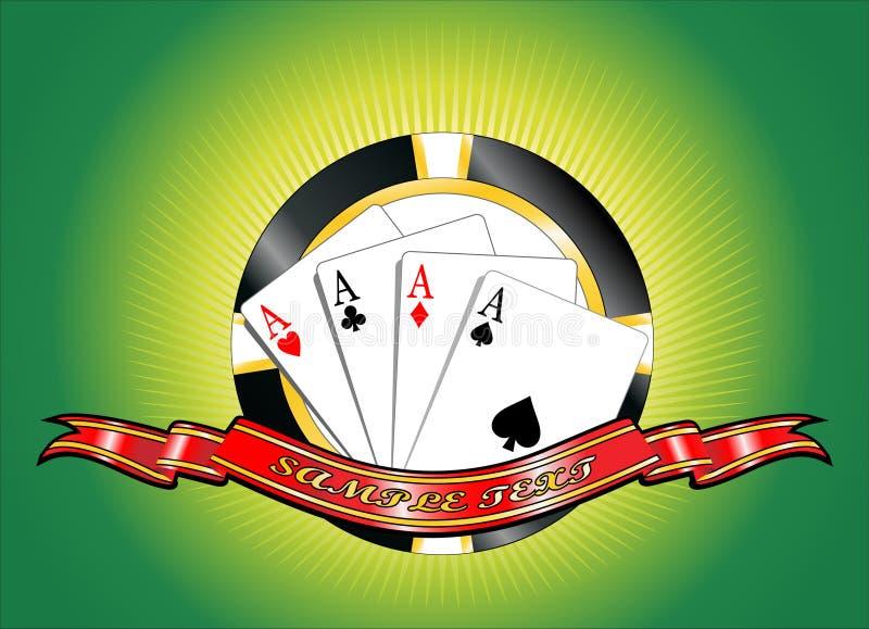 Póker ilustración del vector