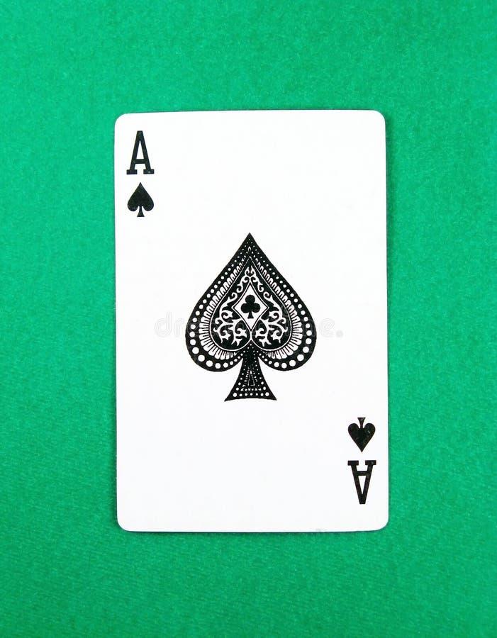Póker de la tarjeta del as que juega foto de archivo