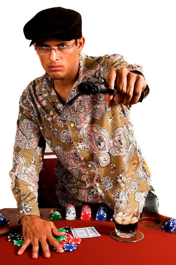 Póker del gángster fotografía de archivo